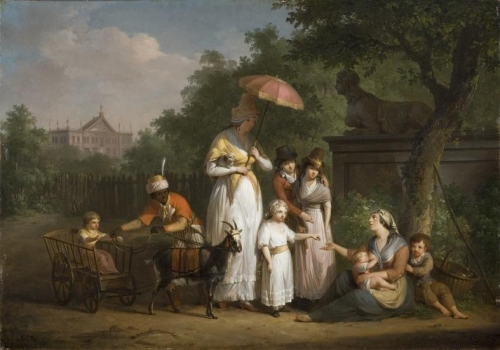 A Noble Family Distributing Alms in a Park.jpg