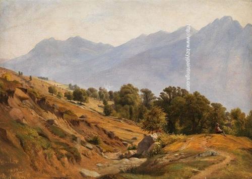 Mountain Landscape around Dorf in the Tyrol.jpg