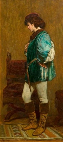 Rosalind Preparing to Leave Duke Fredericks Palace As You Like It by William Shakespeare.jpg