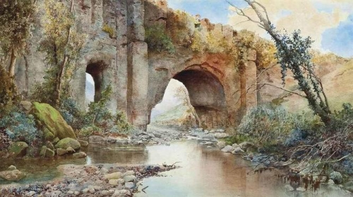 A River Running under an Aquaduct on the Roman Campagna.jpg