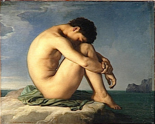 Naked Young Man Sitting on the Edge of the Seaalso known as Jeune homme nu assis au bord de la mer).jpg