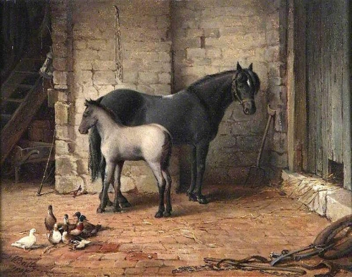Mare and Foal with Ducks.jpg