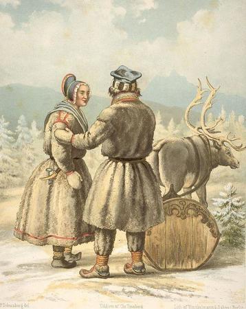 Sami people in winter garments in Karasjok Norway.jpg