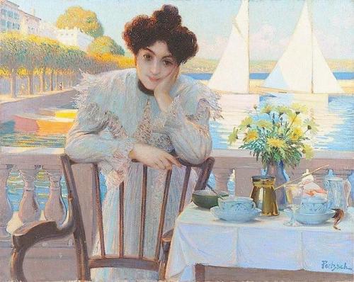 Young Woman having Tea by the Lake.jpg