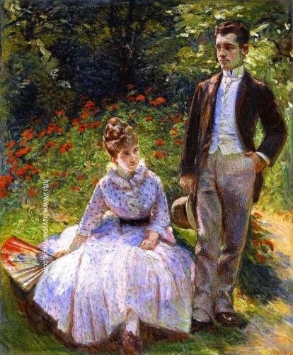 Pierre and His Aunt Louise in the Garden.jpg