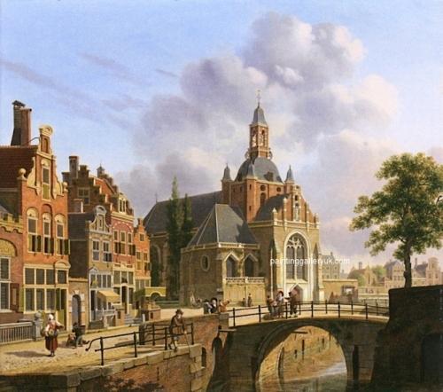 A Church along a Canal Holland.jpg