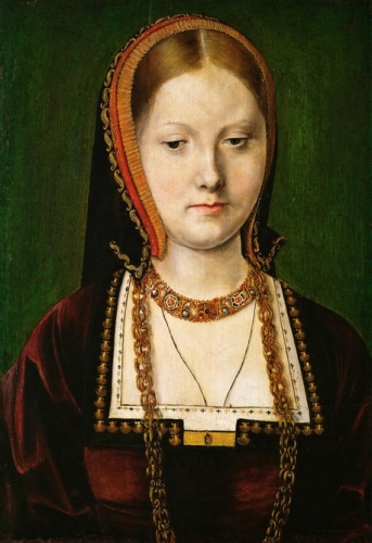 Portrait of a Lady identified as Catherine of Aragon 1485-1536).jpg