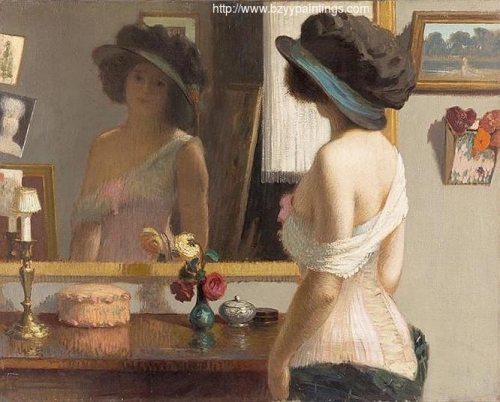 Woman with Corset in front of the Mirror.jpg