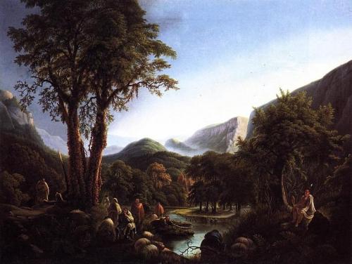 A Gathering of Indians in a Primeval Landscape.jpg