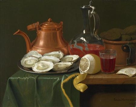 A Still Life with Oysters a Lemon a Carafe of Wine and a Copper Jug.jpg