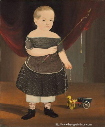 Boy with Toy Horse and Wagon.jpg