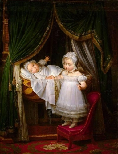 Henri-Charles-Ferdinand dArtois the Duke of Bordeaux with Sister Louise-Marie-Thérèse.jpg