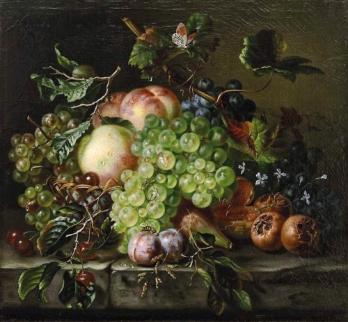 Fruit Still Life with Grapes Peaches and Cherries.jpg