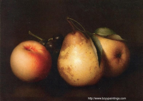 Still Life: Two Pears a Peach and Grapes.jpg