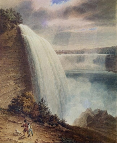 Niagara Falls: Part of the American Falls from the Foot of the Staircase.jpg