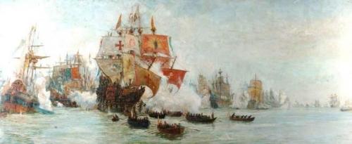 The Battle of Gravelines 29 July 1588.jpg