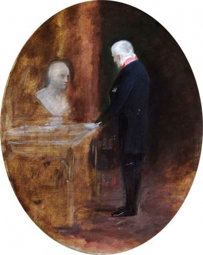 The First Duke of Wellington Looking at a Bust of Napoleon.jpg