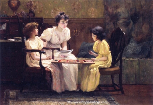 Young Girls Playing Checkers.jpg