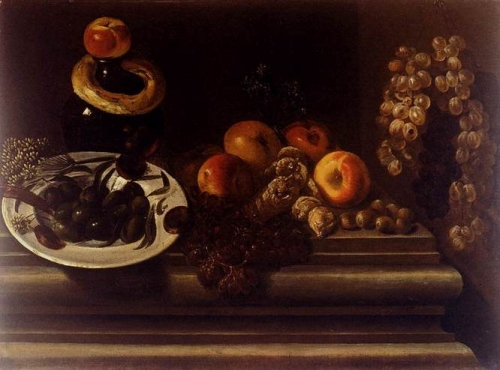 Still Life of Fruits and a Plate of Olives.jpg
