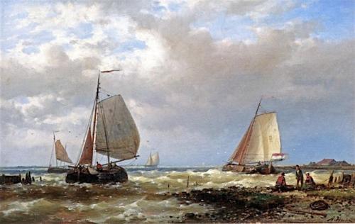 Shipping in a Stiff Breeze of the Dutch Coast.jpg