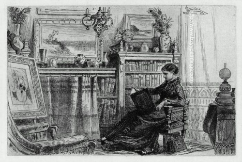 A Corner At Home also known as Lady Sitting in a Library).jpg