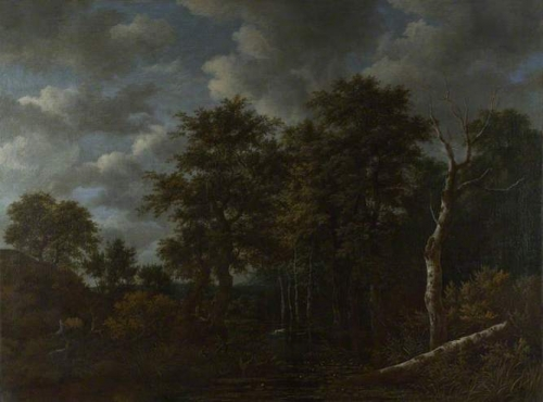 A Pool Surrounded by Trees and Two Sportsmen Coursing a Hare.jpg