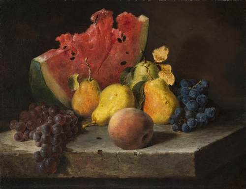 Still Life with Watermelon Pears and Grapes.jpg