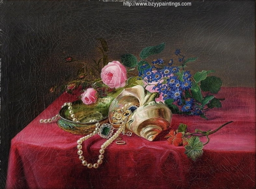 Still Life with Flowers Shells and Jewelry.jpg