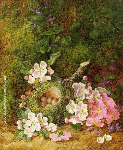 Still Life of Flowers and Birds Nest.jpg