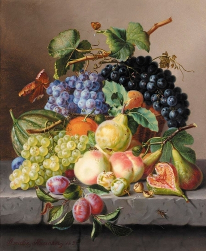 Grapes and Other Fruit on a Ledge.jpg