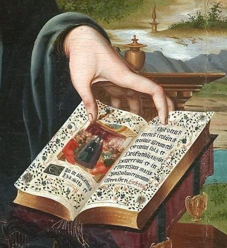 Detail from Virgin and Child with the Infant Saint John Joan de Burgunya.jpg