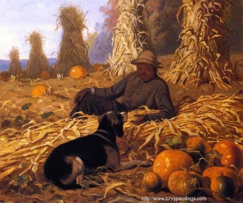 Hound Dog and Pumpkins.jpg