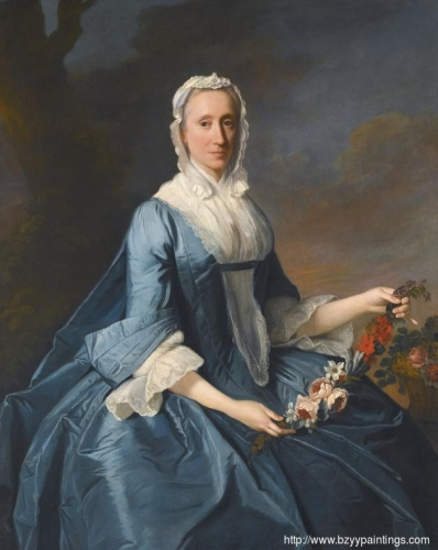 Portrait of Miss Finch holding a Garland of Flowers.jpg