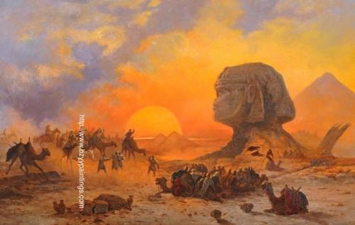 A Bedouin Caravan at the Feet of the Sphinx.jpg