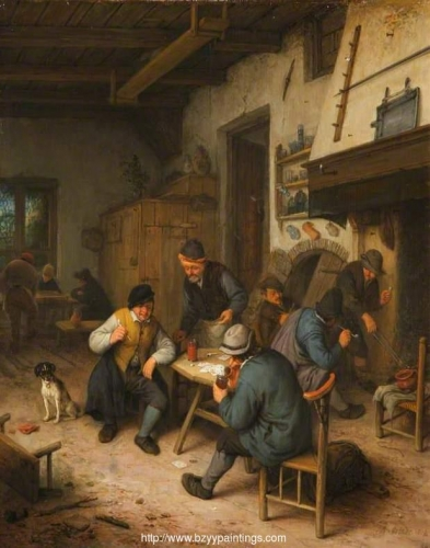 The Interior of an Inn with Peasants Playing Cards.jpg
