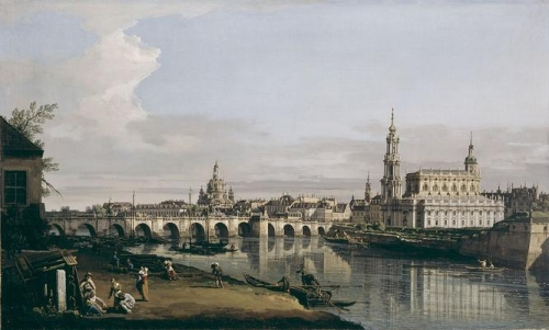 Dresden from the Right Bank of the Elbe below the Augustus Bridge.jpg