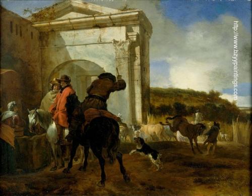 Italian Landscape with Horsemen by a Spring.jpg