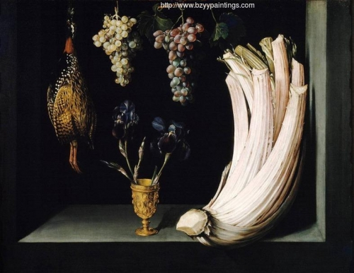 Still Life with Cardoon Francolin Grapes and Irises.jpg