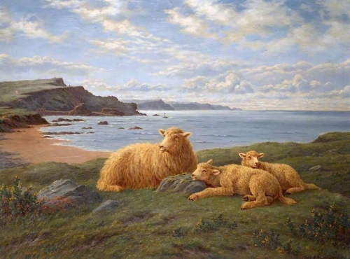 Overlooking Bude Bay also known as Ewe and Lambs at Rest).jpg