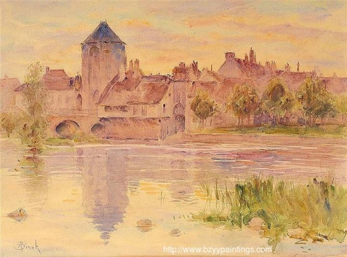 Sunset at Moret sur Loing.jpg