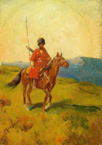 Circassian Horseman in Red Coat.jpg