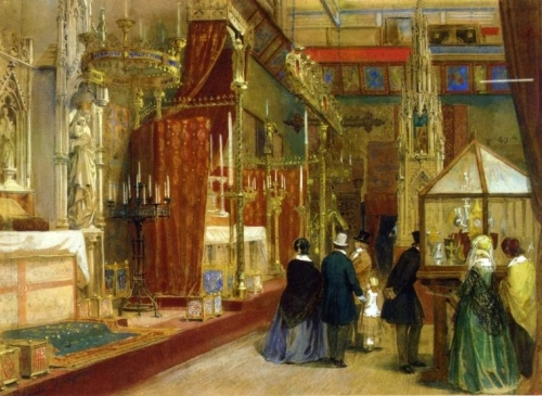 Interior of the Great Exhibition: The Medieval Court.jpg