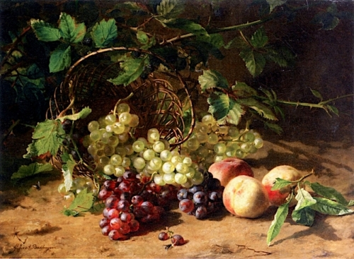 Grapes and Peaches on a Forest Floor.jpg