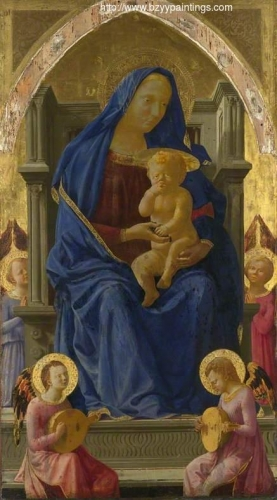 The Virgin and Child Enthroned central panel for the Pisa Altarpiece).jpg