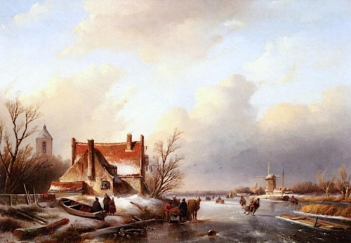 A Winter Landscape with Skaters near a Farmhouse.jpg