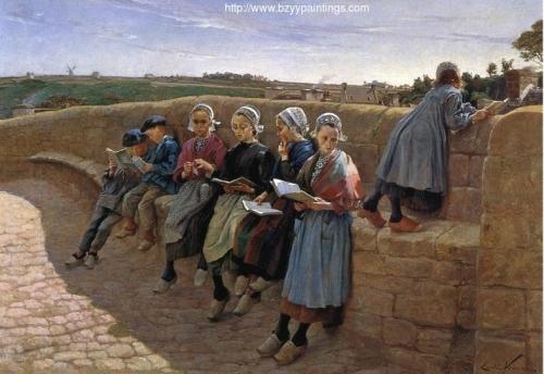 Breton Children Reading.jpg