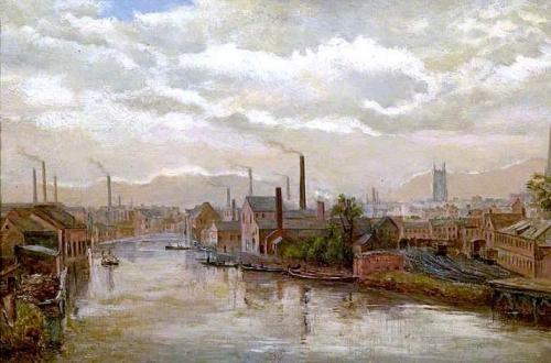The River Derwent from the Great Northern Railway Bridge Derby.jpg