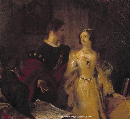 Lady Jane Grey Prevailed on to Accept the Crown.jpg
