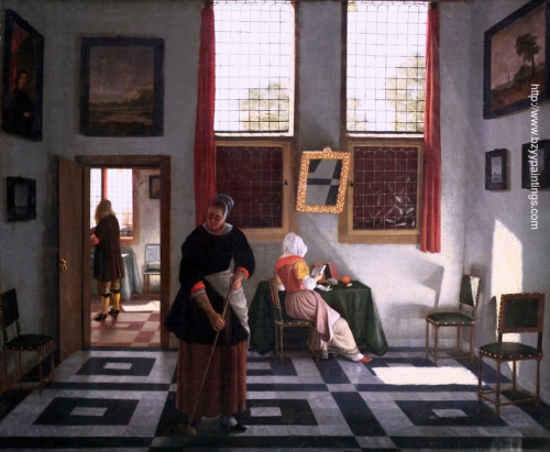 Interior with Painter Woman Reading and Maid Sweeping.jpg