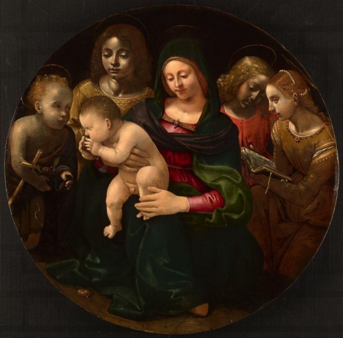 Virgin and Child with the Young Saint John the Baptist Saint Cecilia and Angels.jpg